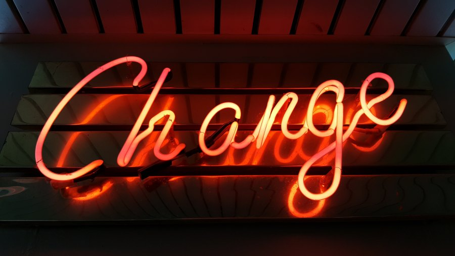 Change - Red neon light - Ross-Findon-303091-unsplash